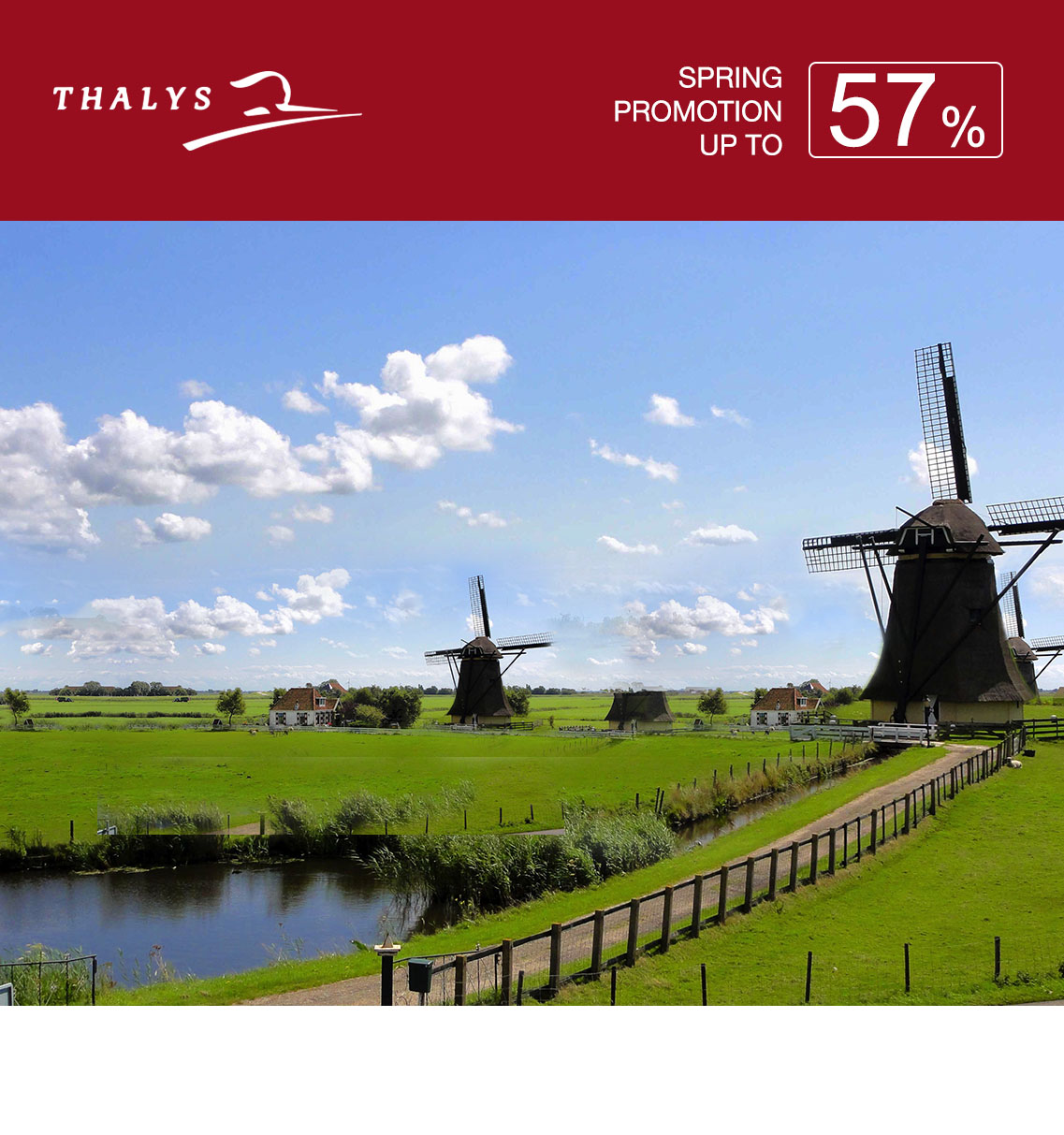 Thalys Spring Promotion 57%