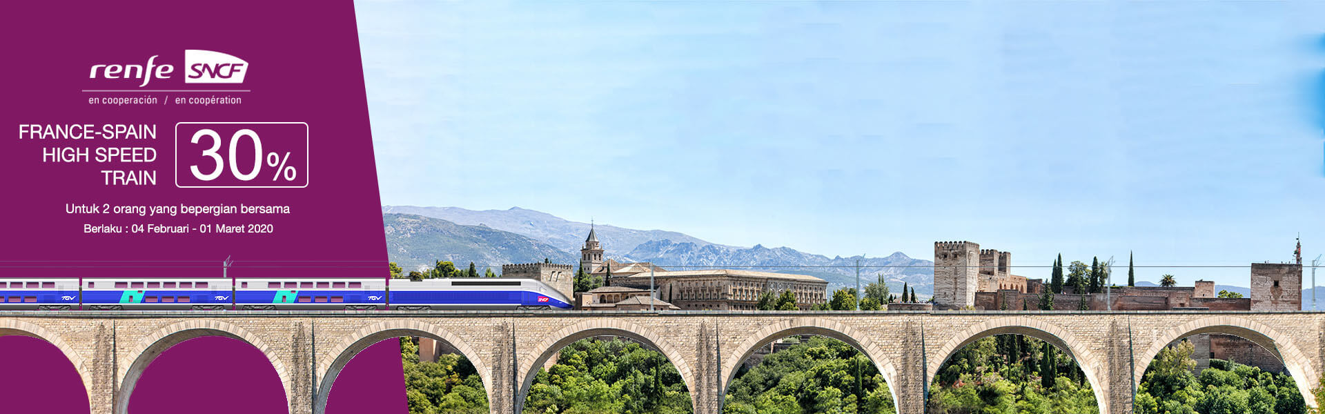 France – Spain High Speed Train 30% Promotion