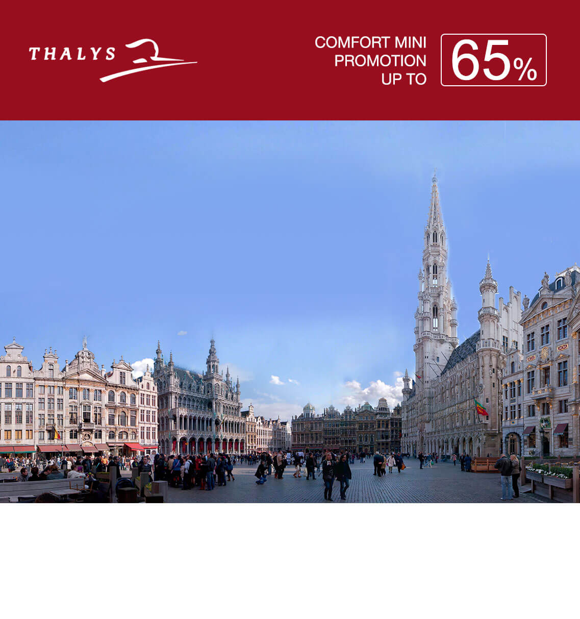Thalys Comfort Mini Promotion 65%